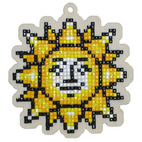 Купить Алмазная вышивка на дереве Подвеска «Солнышко», 8, 8x9, 5 см, Гранни Wood, Алмазная мозаика