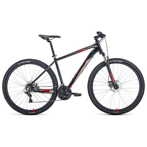 Горный (MTB) велосипед Forward Apache 2.0 Disc 29 (2020) 19 черный/красный (требует финальной сборки) горный mtb велосипед forward apache 27 5 1 2 s 2021 желтый зеленый 19 требует финальной сборки