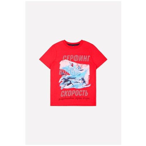 Купить Футболка crockid, размер 92, насыщенно-красный, Футболки и рубашки