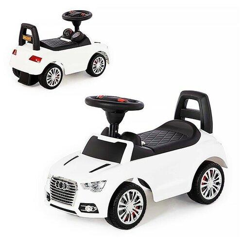 Каталка-автомобиль SuperCar №2 со звуковым сигналом (белая) недорого