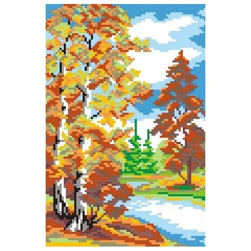 Купить Осень набор 14х21(21х30) МП-Студия КН-419), М.П.Студия, Наборы для вышивания