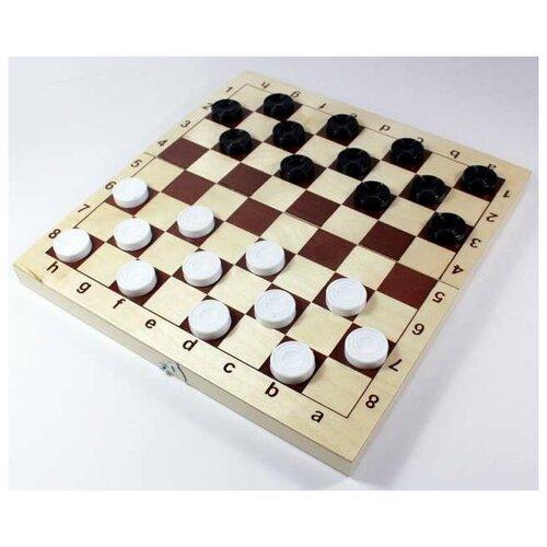 Настольная игра Десятое королевство Шахматы и шашки, пластмассовые фигуры в дер.упаковке (поле 29см х 29см)