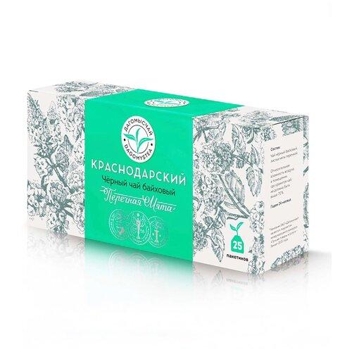 Чай чёрный Мята 25пак*1,8г.Дагомысчай. Сочинский чай высшего сорта. Краснодарский чай.