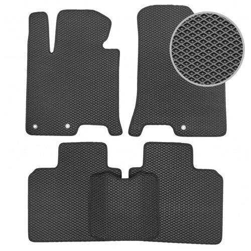 Комплект ковриков для салона ЕВА Dodge Caliber 2006 - 2013 (черный кант)Vicecar