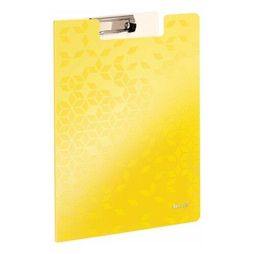 Купить Папка-планшет LEITZ WOW , с верхним прижимом и крышкой, A4, 330х230 мм, полифом, желтая, 41990016, Файлы и папки