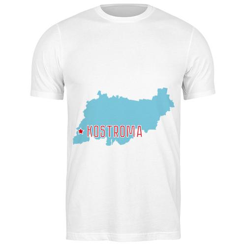 Футболка классическая Костромская область. Кострома #2192796 (цвет: БЕЛЫЙ, пол: МУЖ, качество: ЭКОНОМ, размер: S)