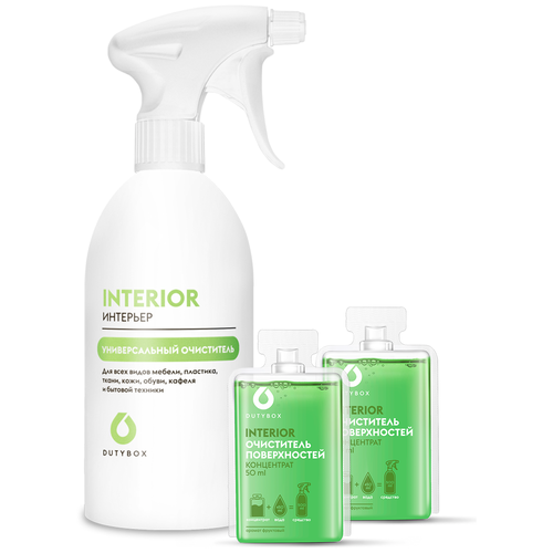 DUTYBOX Набор Универсальный очиститель: многоразовая бутылка и 2 концентрата