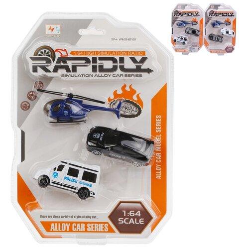 Купить Набор машинок Наша Игрушка Полиция, металл, без механизма, 3 шт (5803), Наша игрушка, Машинки и техника