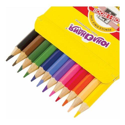 Купить Карандаши цветные Юнландия Домики (KOH-I-NOOR Exclusive), 12 цветов, 181553, Цветные карандаши