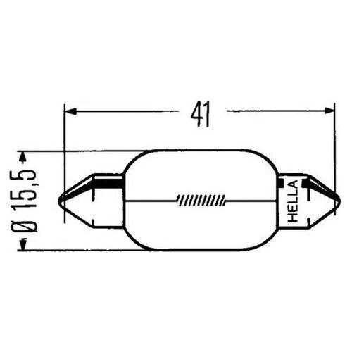 Лампа накаливания Hella 8GM 002 091-261
