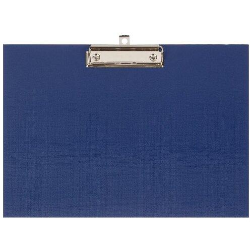 Attache Папка-планшет с зажимом A4, горизонтальная синий