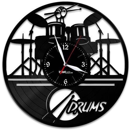 Часы из виниловой пластинки (c) VinylLab Барабаны