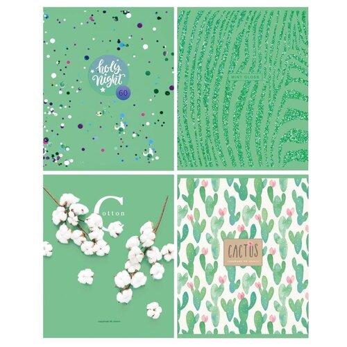 Фото - Тетрадь 60 л., А5, клетка, MINT GLOSS, мелованный картон, выборочный УФ-лак lamark0045 зап книжка lamark delight time 110х205 80 л обл лам картон уф лак цвет мята