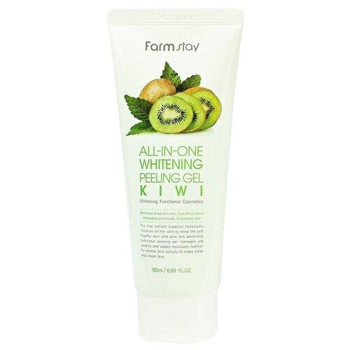 Купить Farmstay пилинг для лица All-In-One Whitening Peeling Gel Kiwi 180 мл
