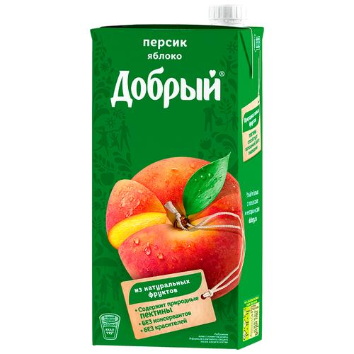 Нектар Добрый Персик-Яблоко, с крышкой, 2 л нектар добрый персик яблоко с крышкой 2 л