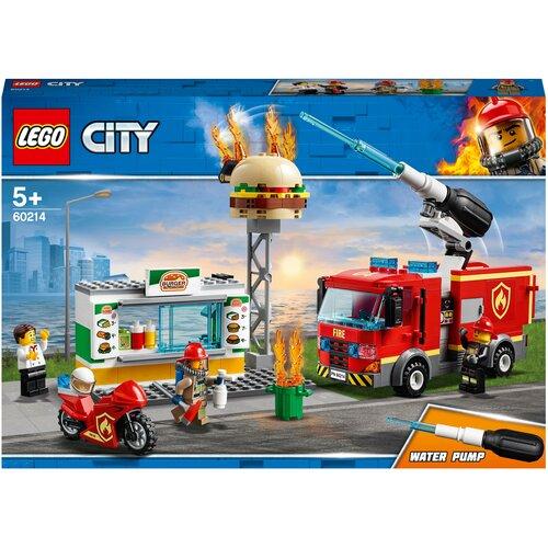 Конструктор LEGO City 60214 Пожар в бургер-кафе конструктор lego city 60214 пожар в бургер кафе