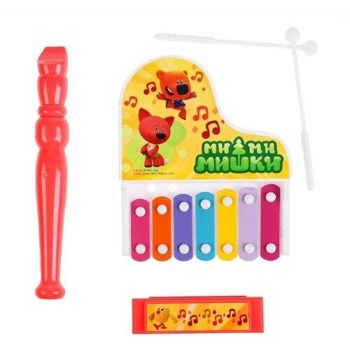 Играем вместе набор музыкальных инструментов Ми-ми-мишки B1445944-R разноцветный пузыри мыльные играем вместе ми ми мишки 50мл 219159