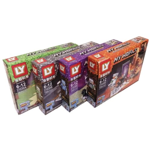 Купить Конструктор LY My World 21030 Набор 4 в 1, Конструкторы