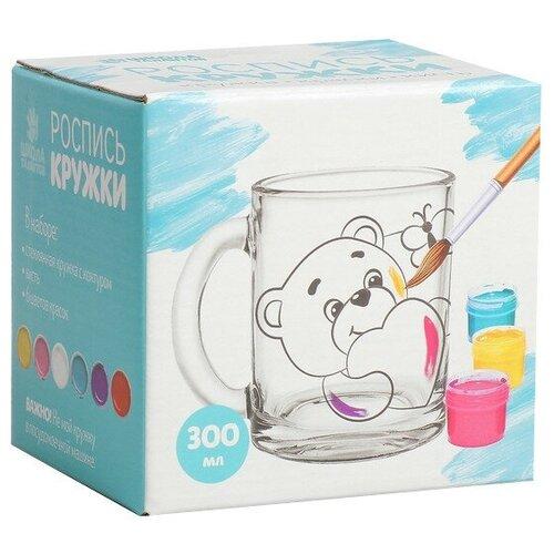 Купить Школа талантов Роспись стеклянной кружки красками Мишка с зайкой (4583510), Роспись предметов