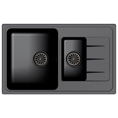 Фото - Врезная кухонная мойка 78.2 см Ewigstein Elegant 60KF антрацит мойка кухонная ewigstein elegant e w90kf шоколад