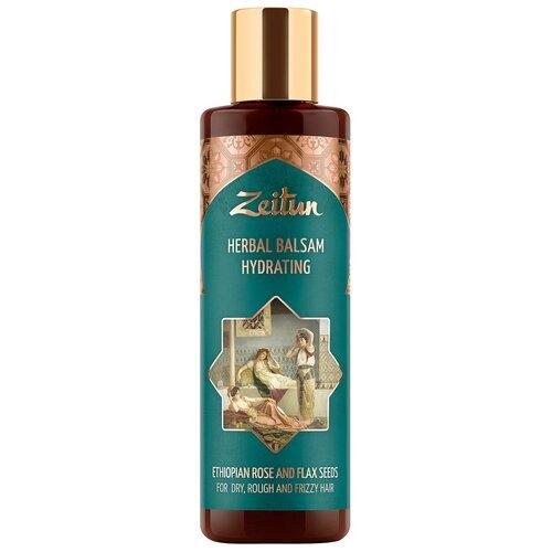 Купить Zeitun фито-бальзам Herbal Hydrating увлажняющий для сухих, жестких и кудрявых волос с эфиопской розой и льном, 200 мл