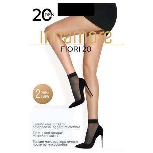 Капроновые носки Innamore Fiori 20, 2 пары, размер UNI, nero