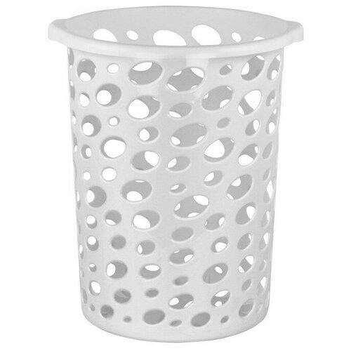 Корзина для мусора Сорренто, серая, 12 литров корзина для мусора сорренто 12л серый м2055 башкирия