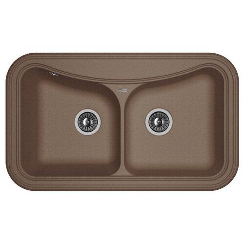Врезная кухонная мойка 86 см FLORENTINA Крит-860 FS мокко врезная кухонная мойка 86 см florentina крит 860 fs бежевый