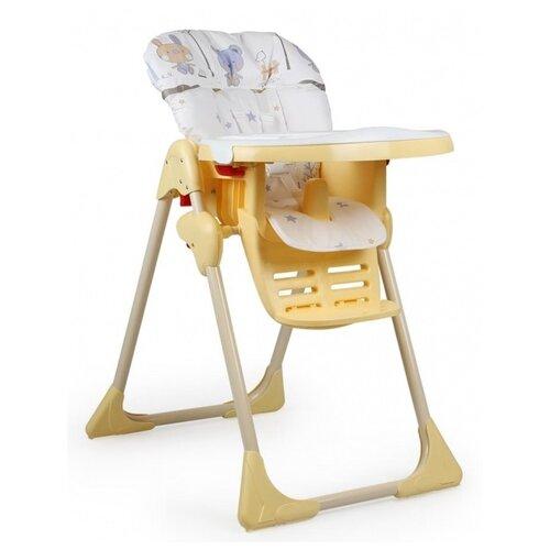 стул для кормления globex космик new белый Стульчик для кормления GLOBEX Космик, белый/желтый