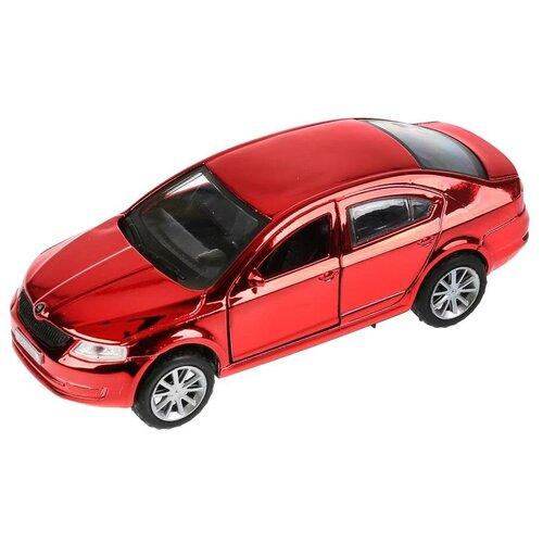 Легковой автомобиль ТЕХНОПАРК Skoda Octavia, 12 см, хром красный