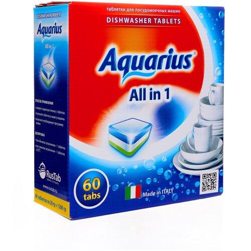 Фото - AQUARIUS All in 1 таблетки для посудомоечной машины, 60 шт. aquarius all in 1 таблетки для посудомоечной машины 150 шт