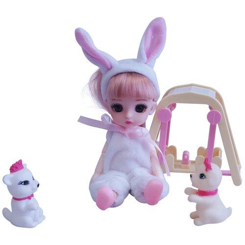Игровой набор Кукла в костюме зайчика с аксессуарами