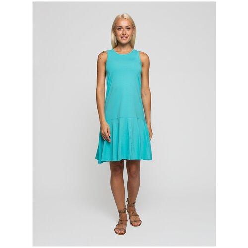 Женское легкое платье сарафан, Lunarable бирюзовое, размер 50