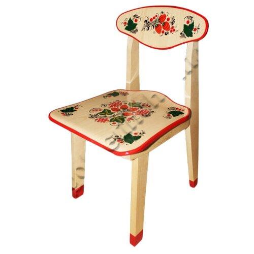 Купить Детский стульчик Хохлома с художественной росписью Ягода/цветок рост 2, Хохломская роспись, Парты и столы