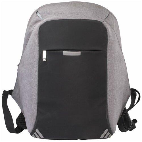 школьные рюкзаки brauberg сумка деловая carbon с отделением для ноутбука 41х31х13 см 240509 Рюкзак BRAUBERG с защитой от краж, с отделением для ноутбука, 43х28х12 см, 227092