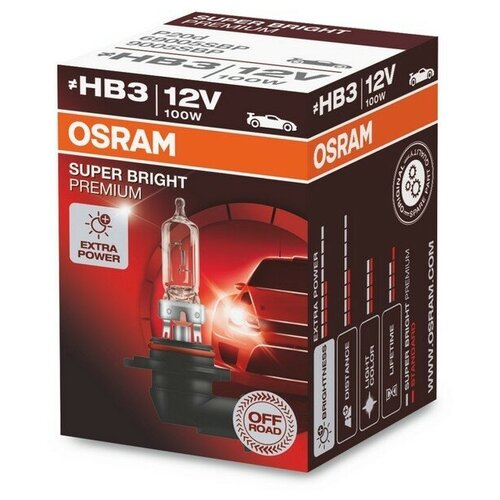 Лампа автомобильная галогенная Osram 69005SBP HB3 100W