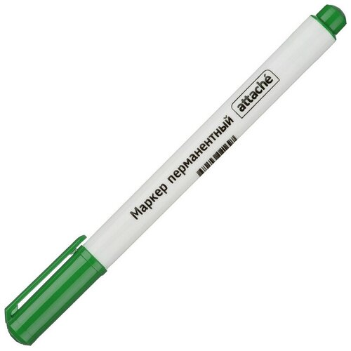 Купить Маркер перманентный ATTACHE зелёный 0, 5 мм 10 штук, Маркеры