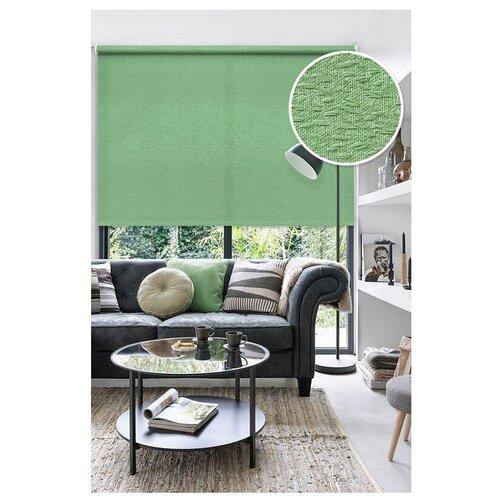 Фото - Рулонная штора Эскар Морзе (зеленый), 160х160 см римская штора эскар линза синий 160х160 см