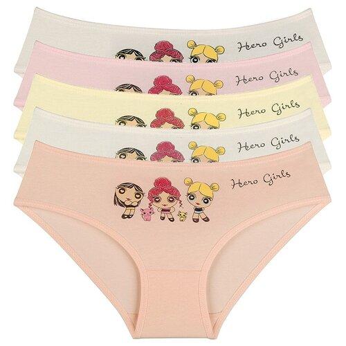 Купить Трусы для девочек 4171HG, Цвет: Микс, Размер: 10/11, 5шт. в упаковке, Donella, Белье и купальники
