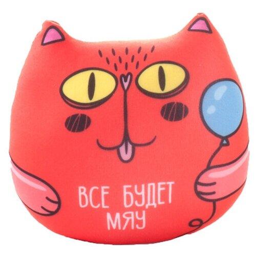 Игрушка-антистресс Мнушки Кот с фразой: Все будет мяу 13 см