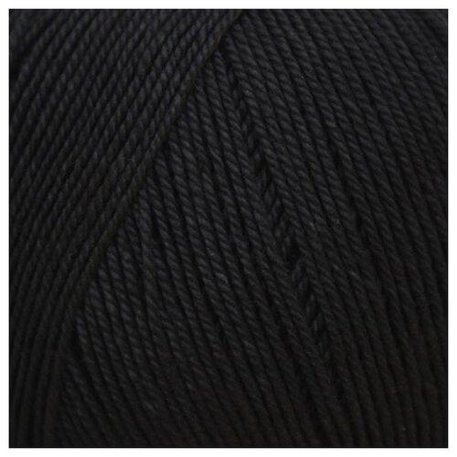 Купить Пряжа Пехорка 'Успешная' 50гр. 220м. (100% мерс. хлопок) (02-Черный), 10 мотков