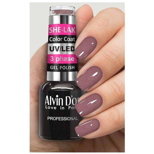 Купить Гель-лак для ногтей Alvin D'or She-Lak Color Coat, 8 мл, 3522