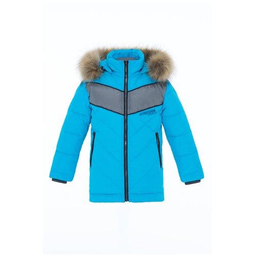 Купить Куртка для мальчика Talvi 93513, размер 086/48, цвет голубой, Куртки и пуховики
