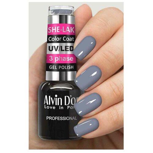 Купить Гель-лак для ногтей Alvin D'or She-Lak Color Coat, 8 мл, 3571