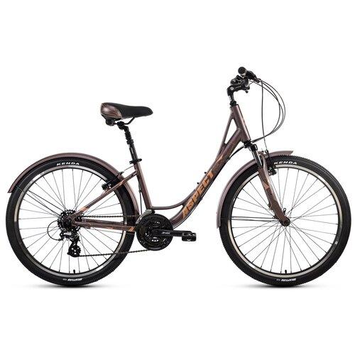 """Городской велосипед Aspect Citylife (2021) коричневый 16"""" (требует финальной сборки)"""