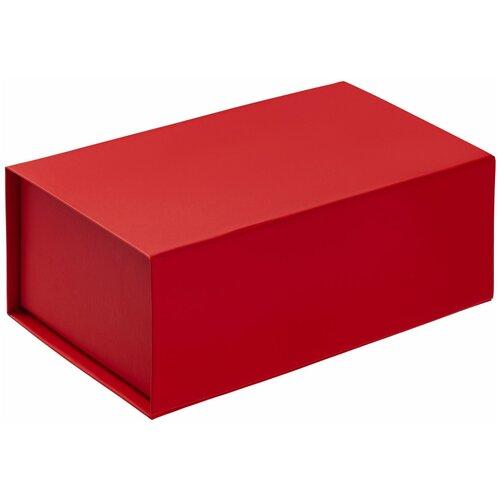 Коробка-шкатулка подарочная 23х14х9,5 см - красная