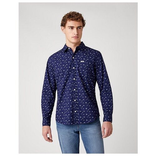 Рубашка Wrangler размер XL синий
