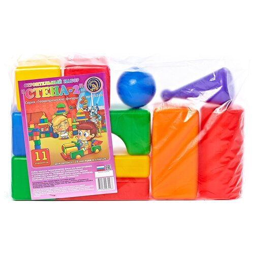 Кубики Строим вместе счастливое детство Стена-2 5243