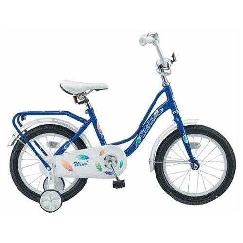 Велосипед Stels Wind 14 Z010 (2018) 14х9,5 синий (требует финальной сборки) детский велосипед stels jet 14 z010 2018 белый синий 8 5 требует финальной сборки