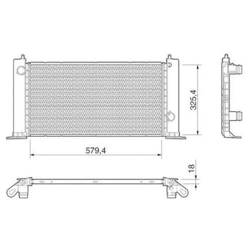 Основной радиатор (двигателя) Magneti Marelli 350213189000 для Fiat Stilo